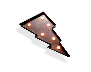 Iluminação Metálica Decorativa Ray