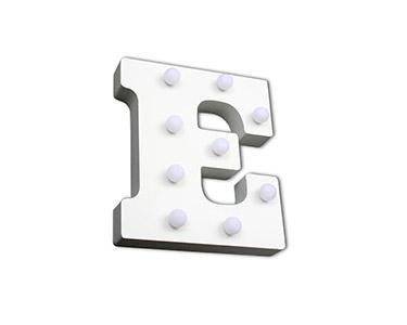 Letra Luminosa Decorativa | Letra E