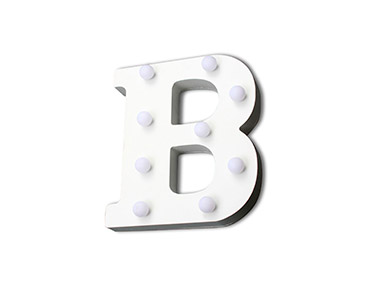 Letra Luminosa Decorativa | Letra B