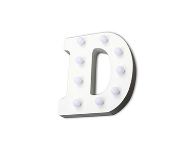 Letra Luminosa Decorativa | Letra D
