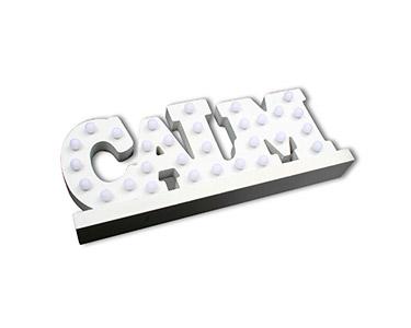 Letras Luminosas Decorativas Calm