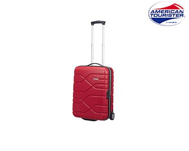 Mala American Tourister® Houston City   Upright Cabine Size Vermelho
