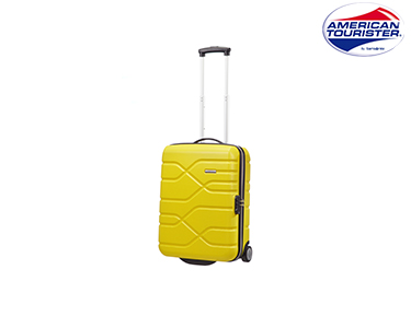 Mala American Tourister® Houston City | Upright Cabine Size Amarelo