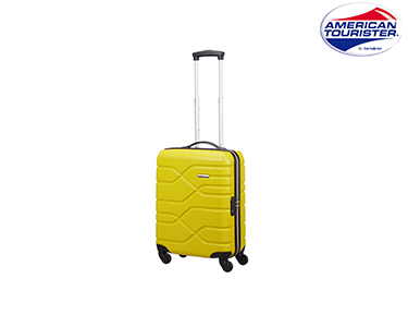 Mala American Tourister® Houston City | Spinner Cabine Size Amarelo