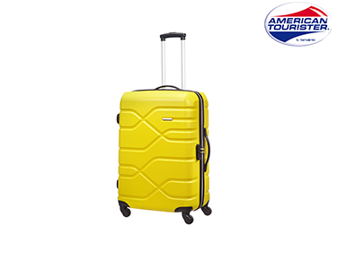Mala American Tourister® Houston City | Spinner M Amarelo