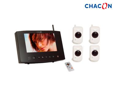 Videovigilância Ecrã 7´´ 4 Câmaras Digitais s\fios | Visão Nocturna