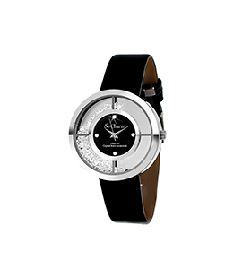 Relógio So Charm® com Cristais Swarovski® Preto | MF273