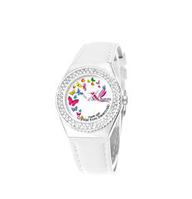 Relógio So Charm® com Cristais Swarovski® Borboletas    MF316