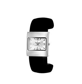 Relógio So Charm® com Cristais Swarovski® Preto e Prateado |  MF321