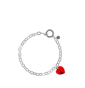 Pulseira So Charm® com Cristais Swarovski® | Coração Vermelho