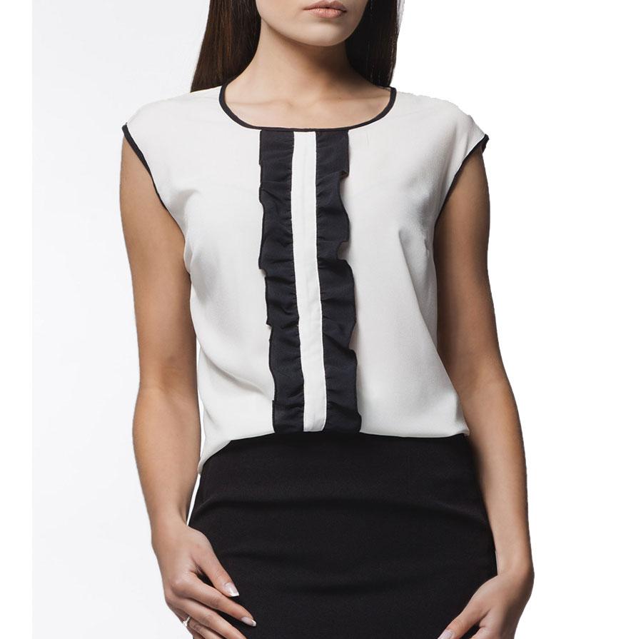 Blusa Awama® A24   Preto e Branco