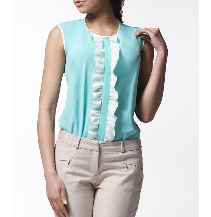 Blusa Awama® A24   Verde e Branco