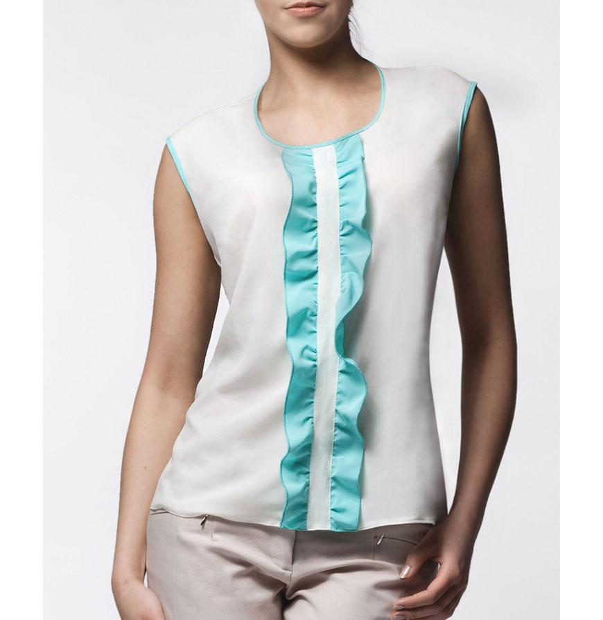 Blusa Awama® A24 | Branco e Verde