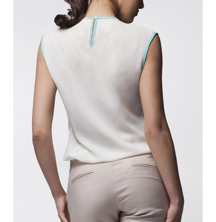 Blusa Awama® A24   Branco e Verde