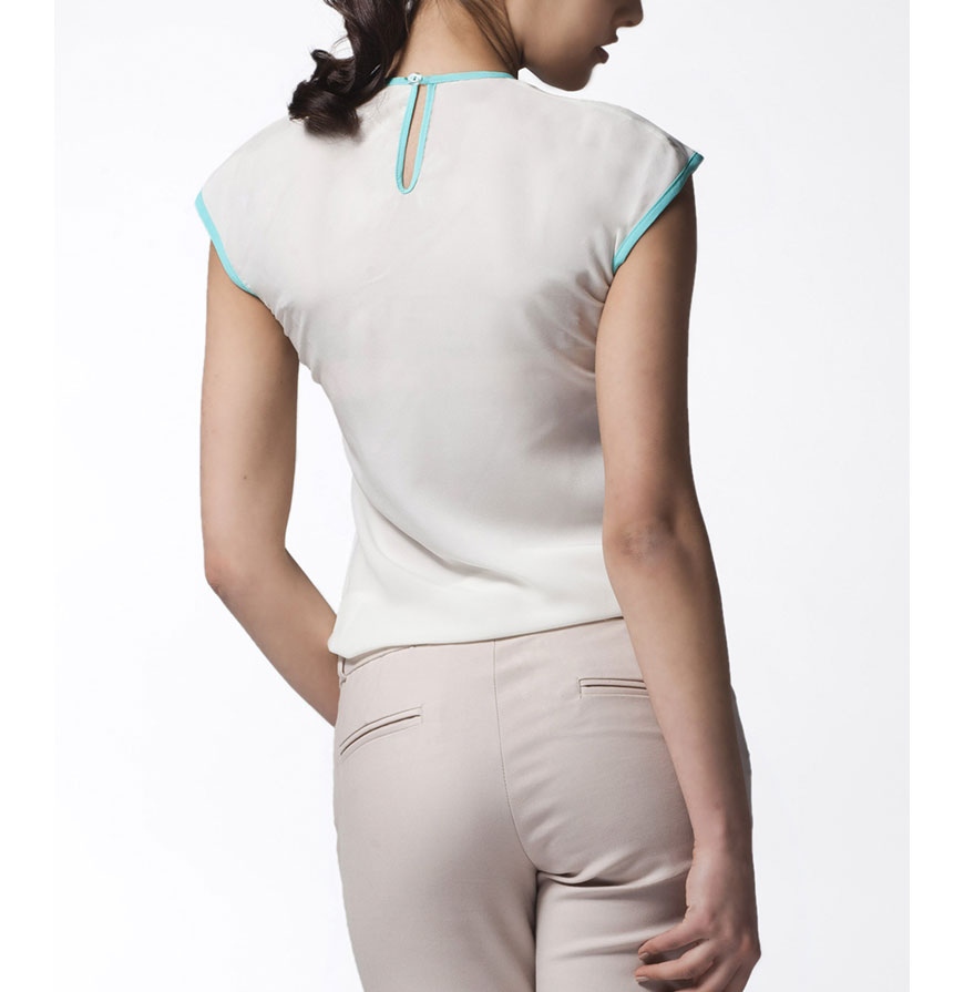 Blusa Awama® A25 | Branco e Verde