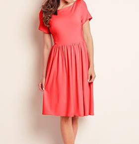 Vestidos Awama® A141   Coral