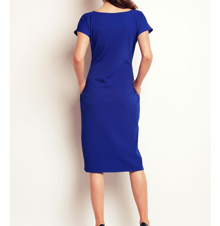 Vestidos Awama® A142   Azul