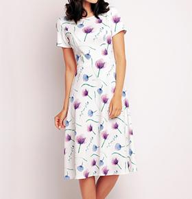 Vestidos Awama® A144   Violeta