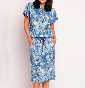 Vestidos Awama® A145 | Azul