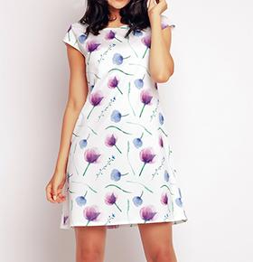 Vestidos Awama® A146   Violeta