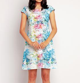 Vestidos Awama® A146   Azul
