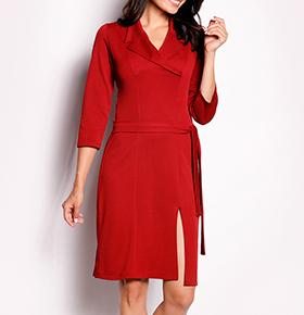 Vestidos Awama® A151 | Tijolo