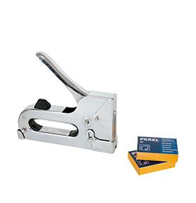 Pistola Agrafadora 8 mm Perel® | Aço Cromado