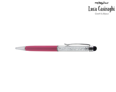 Caneta c/ Cristais Swarovski Elements® | Rosa