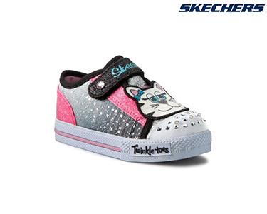Ténis Skechers® for Kids | Twinkle Preto e Rosa
