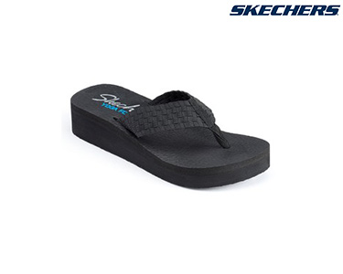 Chinelos Skechers® for Women | Vinyasa Preto