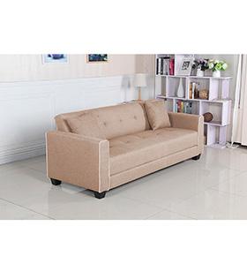 Sofá-Cama em Tecido Relax | Bege