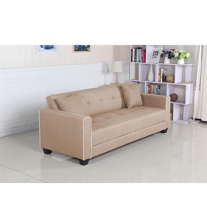 Sof cama relax em tecido bege casa decora o casa - Sofa cama carrefour 99 euros ...