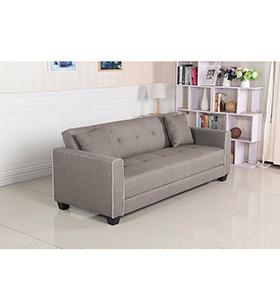 Sofá-Cama em Tecido Relax | Cinzento