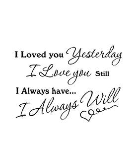 Vinil 'I Love You'