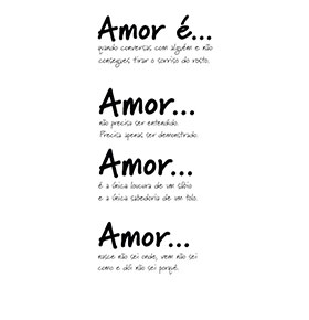 Vinil 'Amor é...'