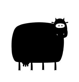 "Vinil de Ardósia ""Vaca"""