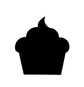 """Vinil de Ardósia """"Cupcake"""""""