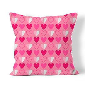 Almofada Combo   Corações Rosa
