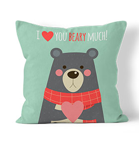 Almofada Combo I Love You Beary Much | Verde