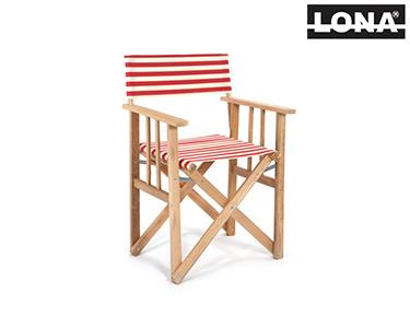 Cadeira Realizador c/ Riscas | Vermelho