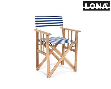 Cadeira Realizador c/ Riscas | Azul