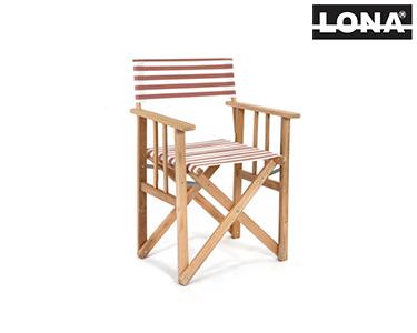 Cadeira Realizador c/ Riscas | Bordô