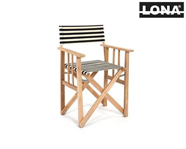 Cadeira Realizador c/ Riscas | Preto