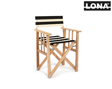 Cadeira Realizador c/ Riscas | Castanho