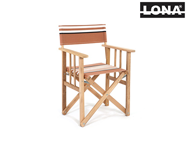 Cadeira Realizador c/ Riscas | Camel e Bege