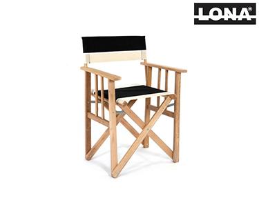 Cadeira Realizador c/ Riscas | Preto e Bege