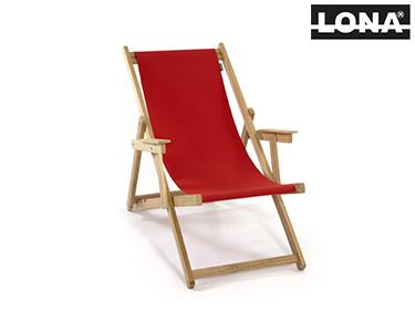 Cadeira de Descanso c/ Braços | Vermelho