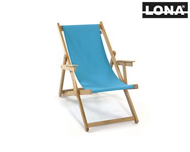 Cadeira de Descanso c/ Braços | Azul Turquesa