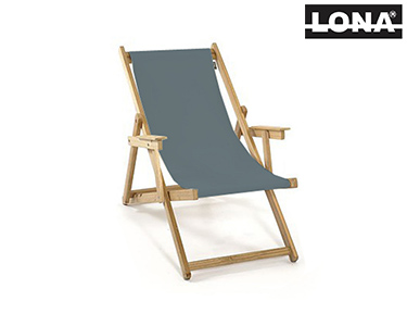 Cadeira de Descanso c/ Braços | Cinza
