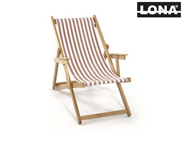 Cadeira de Descanso c/ Riscas e Braços | Bordô